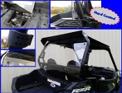 2015 RZR 900 Hard Coated Cab Back / Dust Stopper