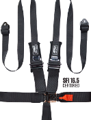 PRP 6.3x2 SFI 16.5 Approved, 6 point Padded Harness