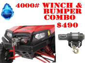 RZR 570/800/XP 900 HD Winch and Bumper Combo